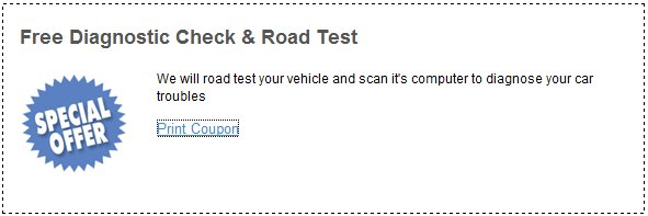 free diagnostic check and road test